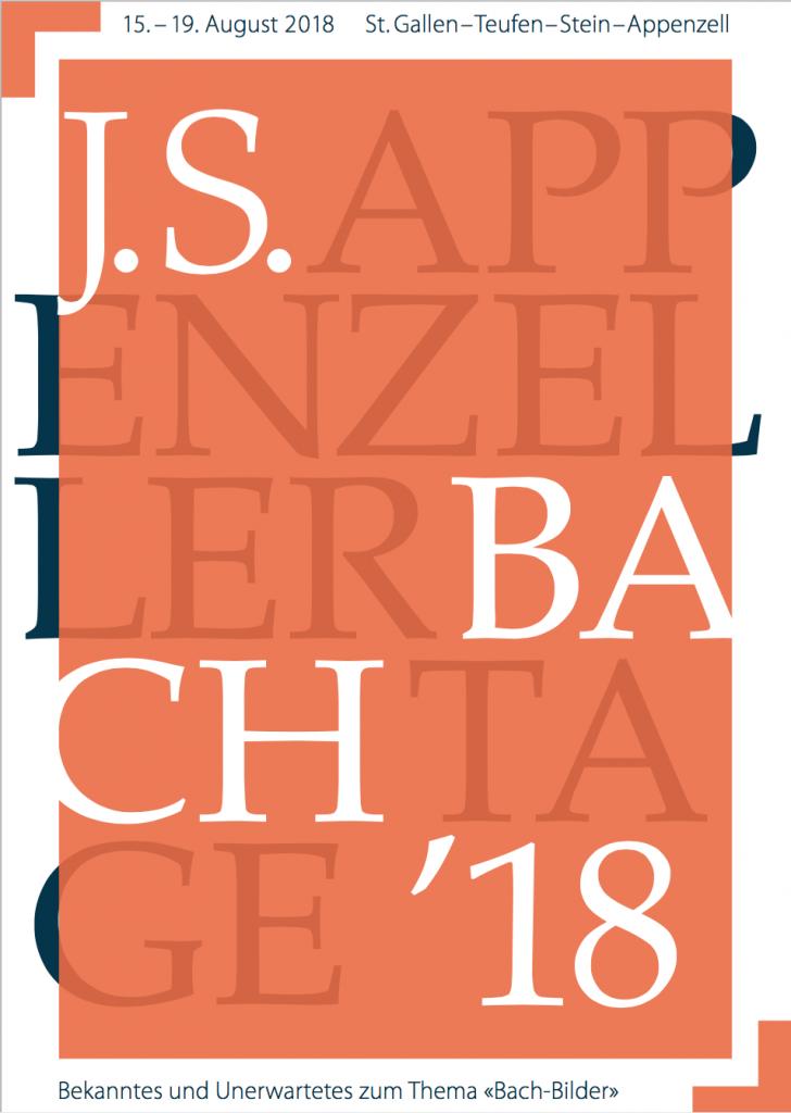 Titelseite Programmheft Appenzeller Bachtage 2018